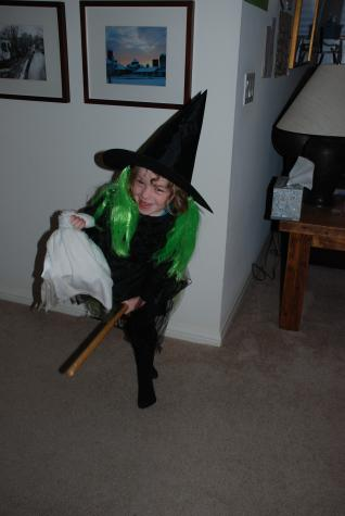 Maddie is a little witch on her way to Disney for Halloween! - Disneyland, CA